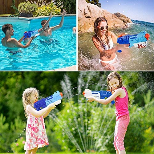 Epeolatry Water Gun 900CC Squirt Guns Swimming Pool Water Fighting Toy Party Outdoor Beach Sand for Kid Adult (2 Pack): Toys & Games