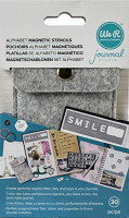 We R Memory Keepers 660445 0633356604457 Tool Journaling-Magnetic Alpha Stencils (30 Piece), Multi : Office Products