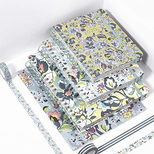 Vera Bradley 2020-2021 Planner Weekly & Monthly, 18 Month Booklet Personal Planner for 3 Ring Binder, Dated July 2020-Dec 2021 with Stickers, Holiday/Notes Pages, Plastic Cover, Floating Garden : Office Products