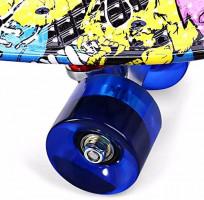 PST@ Printing Street Graffiti Style Skateboard Complete Retro Cruiser Long Board Load Retro Skateboards Pattern Outdoor : Sports & Outdoors