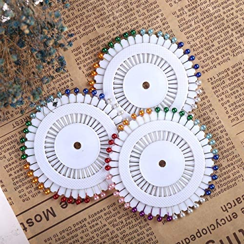 CCINEE 480 Pieces Multicolor Straight Pins Quilting Pearl Head Pins for Christmas and Other Crafts Making and Sewing
