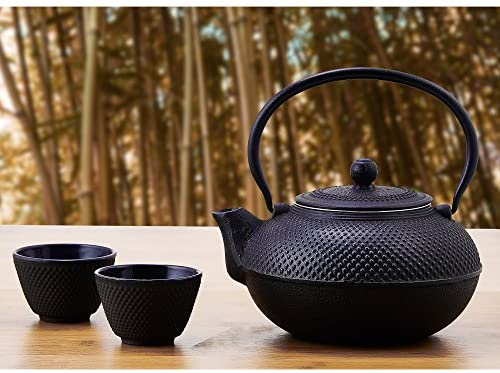 Old Dutch Cast Iron Sapporo Teapot, 20-Ounce, Black: Kitchen & Dining