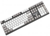 YMDK 108 104 PBT Double Shot Non Shine Through ANSI OEM Profile KEYCAP for MX Mechanical Keyboard (Only Keycap)(White Gray Mixed): Computers & Accessories
