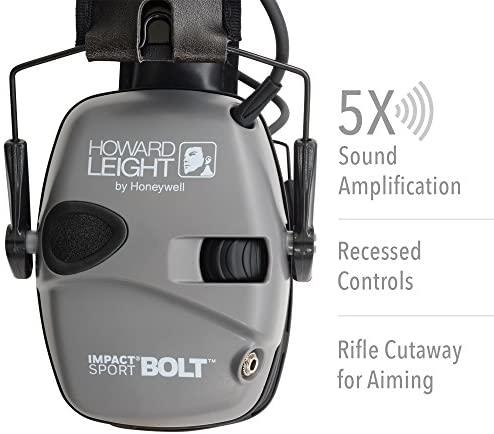 Howard Leight Impact Sport Bolt Digital Electronic Shooting Earmuff, Gray: Home Improvement