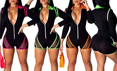 EOSIEDUR Women One Piece Outfits Tracksuit Jumpsuits Striped Sexy Bodycon Clubwear Jumpsuit Set: Clothing