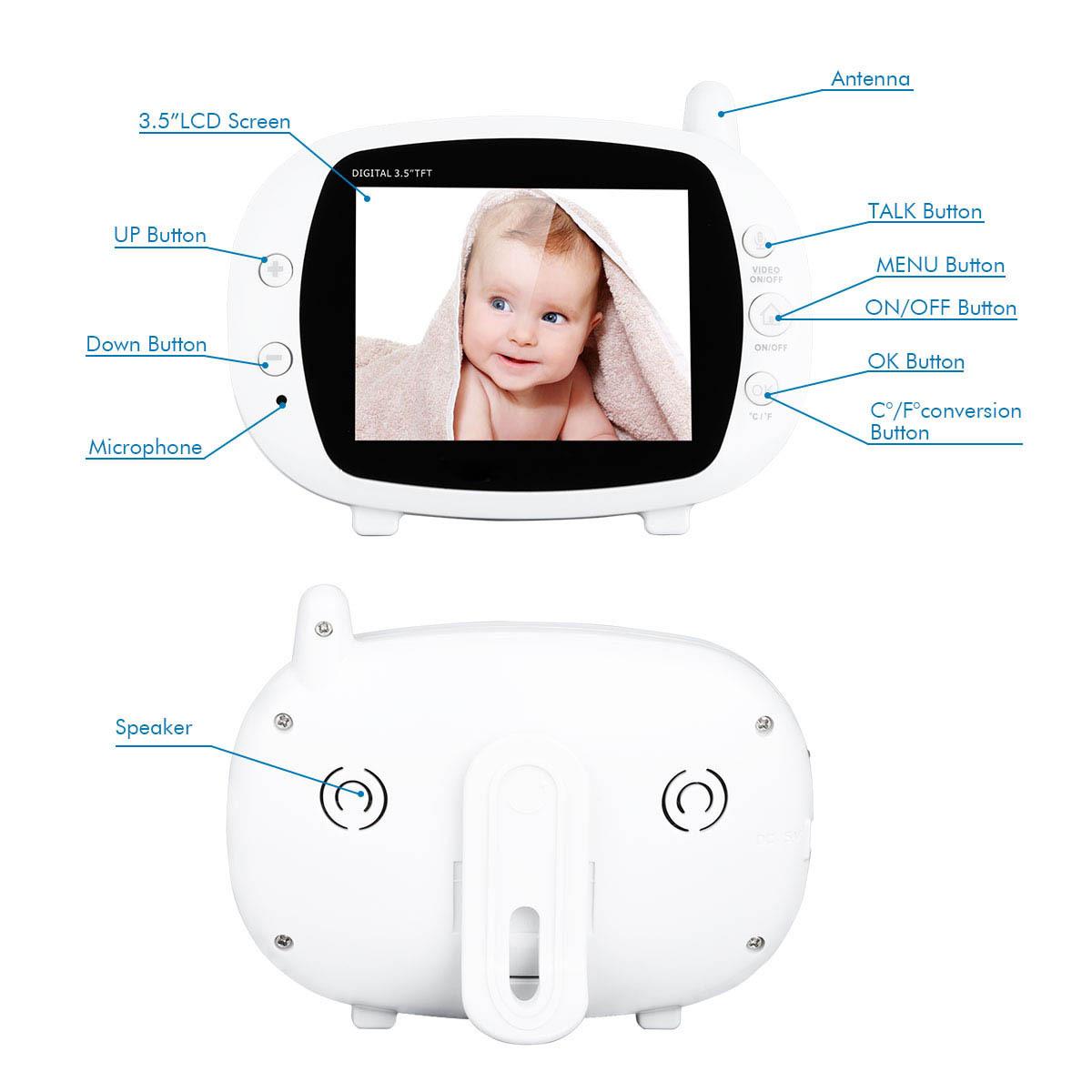 3.5 TFT LCD Wireless Digital Video Baby Camera