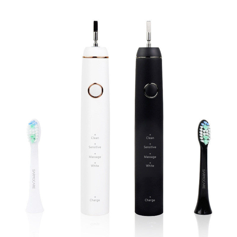 Gift   Wireless Charging Adult Ultrasonic Vibration Intelligent Whitening Tooth  Toothbrush