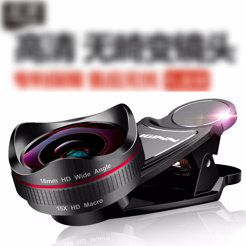 Lens Kit for iPhone, Samsung, Pixel, Macro and Wide Angle Lens with LED Light and Travel Case