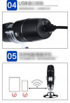 HD Wifi Digital Microscope Medical Beauty Industry Electronic Magnifying Glass 1000 Times Magnification