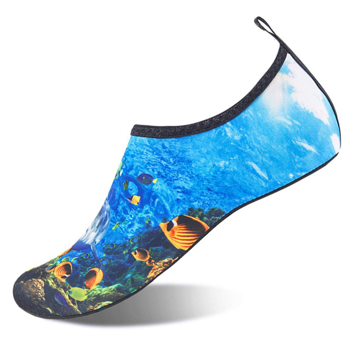 Water Sports Shoes Quick-Dry Aqua Slip-on for Men Women Kids