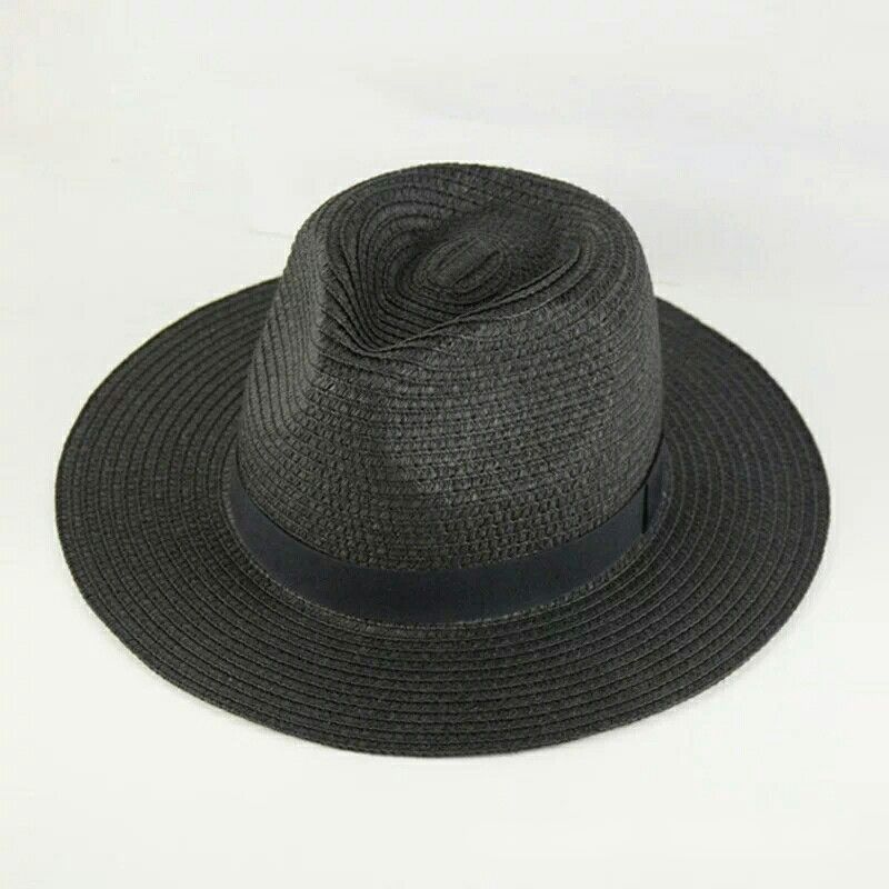 Unisex Wide Brim Straw Hat