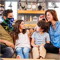 Bandana Face Mask Reusable Washable Neck Gaiter Cloth Cover Women Men Ear Loops (34): Clothing