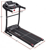 Merax Electric Folding Treadmill – Easy Assembly Fitness Motorized Running Jogging Machine with Speakers for Home Use, 12 Preset Programs (Black) : Sports & Outdoors
