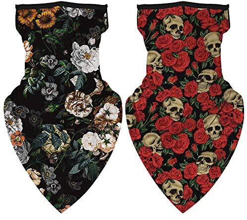 Unisex Bandana Face Scarf Earloops Face Cover for Dust Wind Neck Gaiter at Women's Clothing store