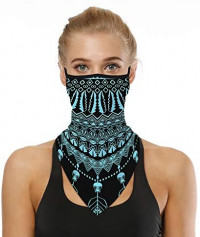 Face Scarf Bandana Ear Loops Face Balaclava Neck Gaiters Men Women for Dust Wind Motorcycle Mask Pattern #10 at Men's Clothing store