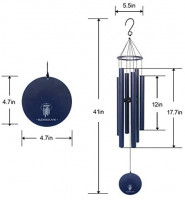 """BLESSEDLAND Wind Chimes- Large Deep Tone, 41"""" Wind Chime, 6 Aluminum Tubes, Outdoor Decor for Garden, Yard, Patio and Home (Copper Vein) : Garden & Outdoor"""