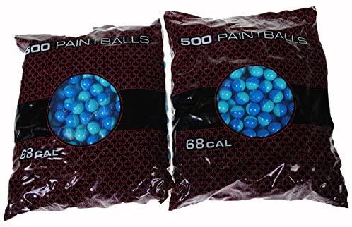 GI Sportz XBALL CERTIFIED MIDNIGHT Paintballs - Shell Varies - AQUA FILL (500 COUNT) : Sports & Outdoors