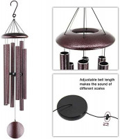 ASTARIN Wind Chimes Outdoor Deep Tone, 45 in Memorial Wind Chimes Large with 6 Heavy Tubes, Large Deep Tone Wind Chimes Outdoor for Garden Hanging Décor, Sympathy Gifts. Bronze : Garden & Outdoor