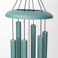 Corinthian Bells 27-inch Windchime, Patina Green : Wind Chimes : Garden & Outdoor
