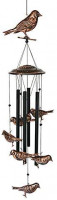 BLESSEDLAND Bird Wind Chimes-4 Hollow Metal Tubes -Wind Bells and Birds Wind Chime with S Hook for Indoor and Outdoor : Garden & Outdoor