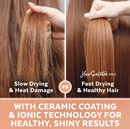 Hair Dryer Brush - Hot Air Brush with ION Generator, and Ceramic Coating for Fast Drying, Hair Dryer and Styler for Salon Diffuser Results, Perfect One Step Hair Dryer and Volumizer for All Hair Types : Beauty