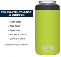 YETI Rambler Tall Colster, Vacuum Insulated, Stainless Steel, Navy: Sports & Outdoors