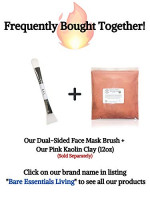 Face Mask Brush and Soft Silicone Clay Facial Mask Applicator – Dual Sided Cosmetic Beauty Tool for Makeup, Foundation, Cream, Lotion, Moisturizer, Gel, Peel, and Mud Masks by Bare Essentials Living: Beauty