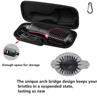 Brappo Hard Travel Case for Revlon One-Step Hair Dryer & Volumizer& Styler (BLACK) : Beauty