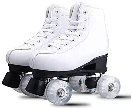XUDREZ Classic Roller Skates High-Top Double-Row Leather Roller Skates for Women and Men : Sports & Outdoors