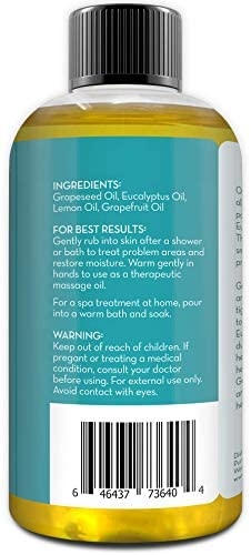 Pure Body Naturals Cellulite Massage Oil, 8 fl oz   100% Natural Cellulite Oil for Thighs and Butt   Chemical Free Cellulite Oil Massage Treatment for Firming Stomach, Legs, and Arms (Label Varies): Health & Personal Care