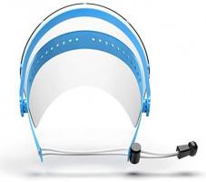 Safety Face Shield, 1 Holder +10 PET Anti-fog Shields, Adjustable Transparent Full Face Visor, Anti-Spitting Splash Facial Cover for Women Men