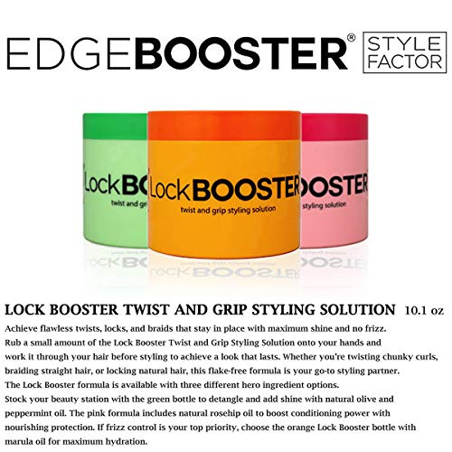 Style Factor Lock Booster Twist and Grip Styling Solution 10.1oz (PINK (ROSEHIP)) : Beauty
