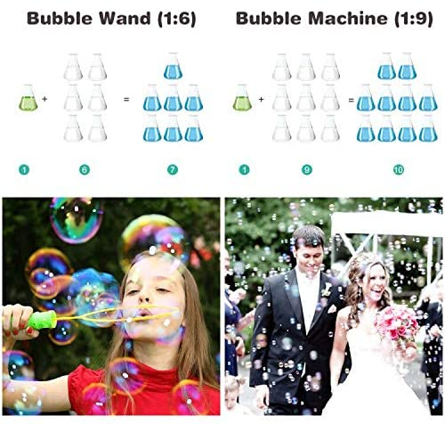 Toyard Bubbles Solution Refill Concentrate for Giant Bubble Machine Wands 32 Ounce (up to 2.5 Gallon): Toys & Games