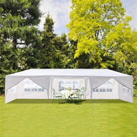 Joyleah 10' X 30' Outdoor Canopy Tent Outdoor Wedding Party Waterproof Tent with 8 Removable Sidewalls Easy Set Gazebo Canopy Cater Events (10' X 30' with 8 Sidewalls) : Garden & Outdoor