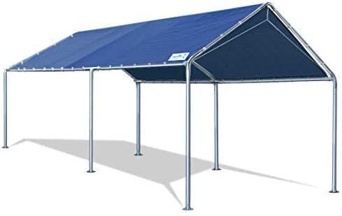 Quictent 10X20'ft Upgraded Heavy Duty Carport Car Canopy Party Tent with Reinforced Steel Cables-Blue: Garden & Outdoor