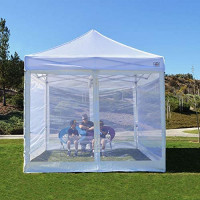 Impact Canopy Zippered Mesh Sidewalls for 10' x 10' Pop-Up Tent Canopy, White : Outdoor Canopies : Garden & Outdoor