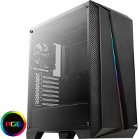 Aerocool Cylon Pro Mid-Tower RGB PC Gaming Case, ATX, Full Tempered Glass Side Window, 13 Lighting Modes, 1 x 120mm Black Fan Included, High Performance RGB Gaming Case | Black: Computers & Accessories