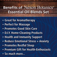 Essential Oil Blends Set 10 ml Each - Made In the USA - Great Blends for Aromatherapy and Diffuser - Perfect Gift - Anxiety, Breathe Ease, Muscle Ease, Robbers' Health, Zen Head, Sleep: Beauty