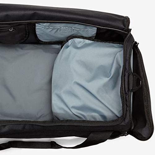 NIKE Brasilia Duffel Bag, Black/Black/White, Large: Clothing