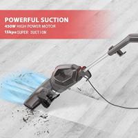 MOOSOO Vacuum Cleaner, 15KPa 4-in-1 Upright Vacuum Stick Vacuum Cleaner with HEPA Filters for Hard Floor Lightweight LT450: Home & Kitchen