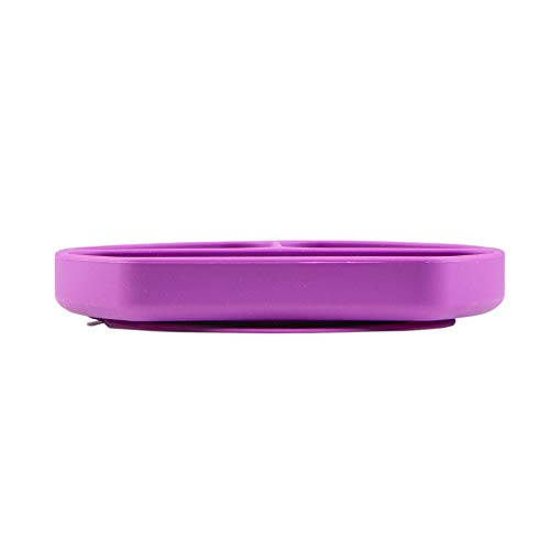 Table-Tot 3-Compartment Plate for Kids, Baby-Safe Silicone, Suction Plates for Toddlers by Juliaire (Grape)) : Baby