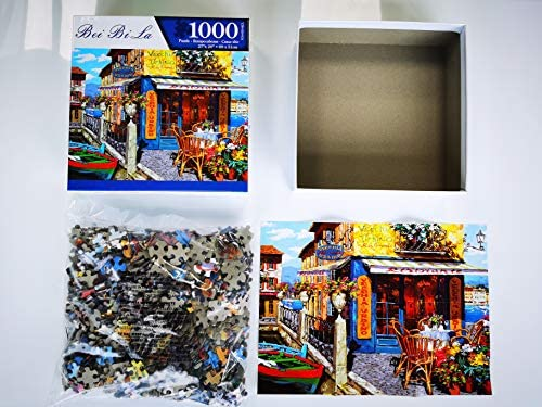 """Puzzles for Adults 1000 Piece Jigsaw Puzzles 1000 Pieces for Adults Kids Large Puzzle Game Toys Gift Dock Bar 27.2"""" x 20.1""""…: Toys & Games"""