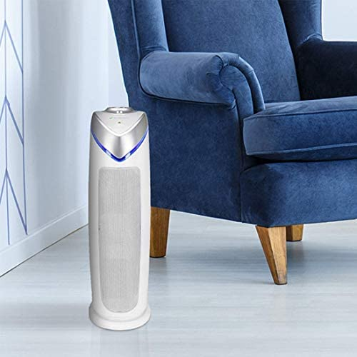 Germ Guardian True HEPA Filter Air Purifier with UV Light Sanitizer, Eliminates Germs, Filters Allergies, Pollen, Smoke, Dust, Pet Dander, Mold, Odors, Quiet 22in 4-in-1 Air Purifier for Home AC4825W: Health & Personal Care