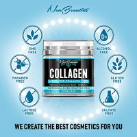 Collagen Cream - Organic Day and Night Cream - Made in USA - Anti Aging & Wrinkle Face Firming Cream - Face Moisturizer for Women & Men - Gentle Collagen Cream with Hyaluronic Acid & Retinol: Beauty