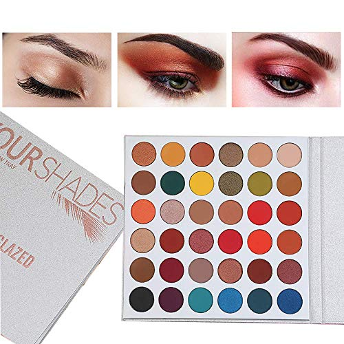 Beauty Glazed Your Shades Matte Glitter Makeup 36 Colors Eyeshadow Palette Highlighter Shimmer Makeup Pigment Eyeshadow Palette Cosmetics : Beauty