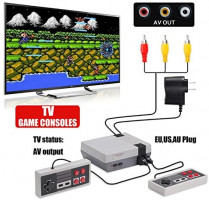 USXUS Retro Game Console , Plug & Play Game Player Classic 8 Bit Mini Video Game Player Built-in 620 AV Output Support TV Play…: Toys & Games
