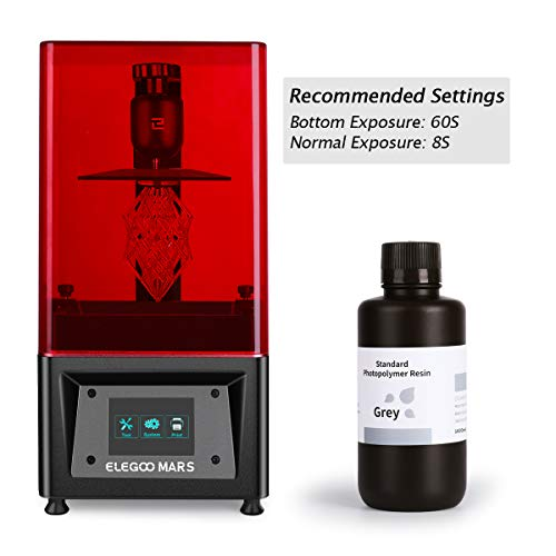 ELEGOO 3D Rapid Resin LCD UV-Curing Resin 405nm Standard Photopolymer Resin for LCD 3D Printing Grey 500g: Industrial & Scientific