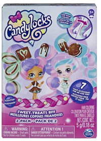 """Candylocks, BFF 2-Pack, 3"""" Mint Choco Chick and Choco Lisa, Scented Collectible Dolls with Accessories: Toys & Games"""