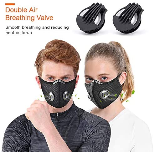 QUEENNA Dustproof Cycling Face M.ks with Filter Outdoor Sprots Bicycle(1Pack) : Sports & Outdoors
