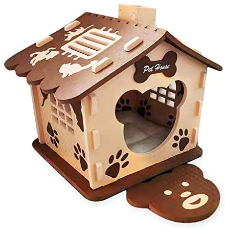 VBM Dog House – Dog Houses for Small and Medium Dogs – Pet House for Indoors and Outdoors – Lovely Paw Prints Design – Sturdy and Reliable – Comfortable and Lightweight – Ideal Present for Pet Owners : Pet Supplies